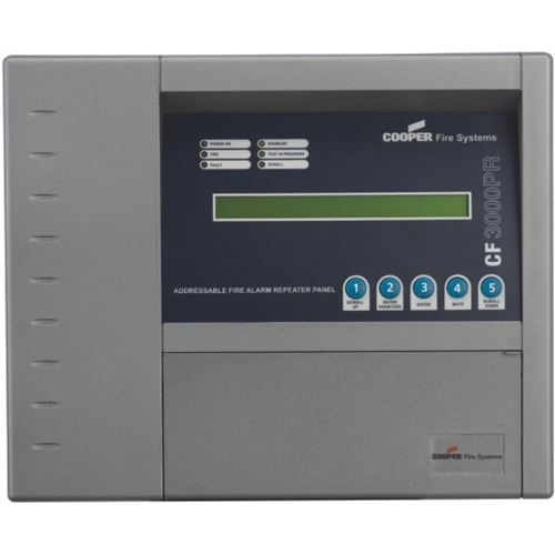 Active Repeater panel Network connected with 2X40 backlit LCD display which provides system status information Silence alarm evacuate and reset commands from repeater