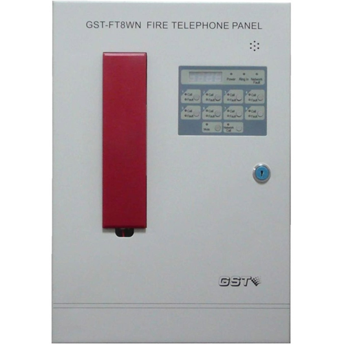8 Zone Fire Telephone Control Panel Wall Mounted Networkable Up to 8 Panels Fully Monitored 24VDC Powered