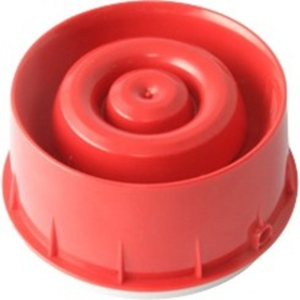 Intelligent Wall Mounted Sounder Strobe Pure White skirt Red lens