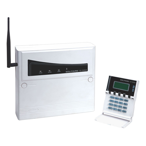8 Zone Control Panel with inbuilt 2 message 30 number GSM Voice and SMS Dialer