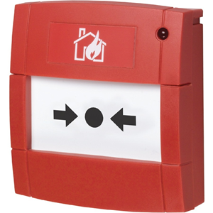 Red Conventional Call Point with LED and Resistor 470 OHM Flush Mounting Flexi Element