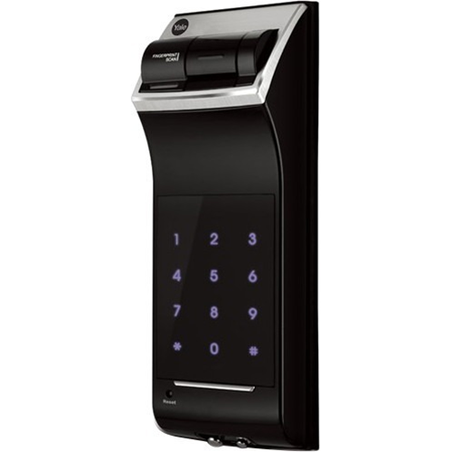 Biometric Digital Rim Lock Black