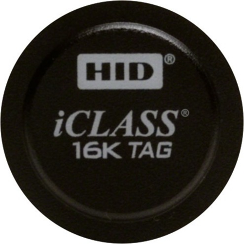 iClass adhesive Tag with 2Kb memory & 2 application areas, Black in color, programmed from HID