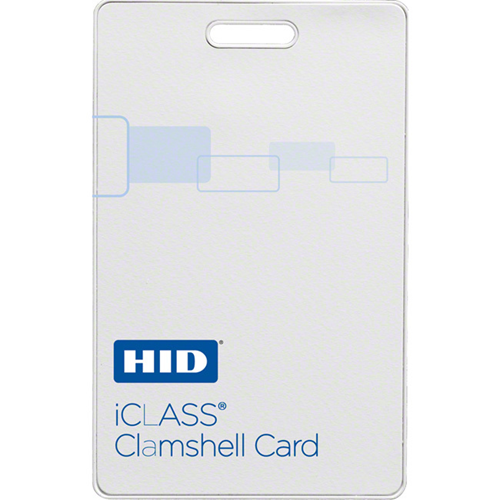 iCLASS + SIO Clamshell Contactless Smart Card with 2Kb Memory, Programmed by HID