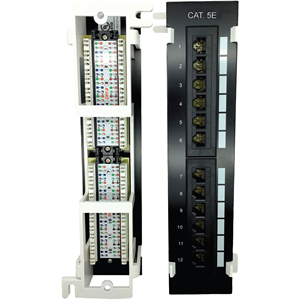CAT5E PATCH PANEL 12 PORT VERT