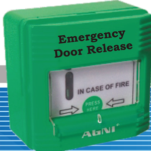 Emergency Door Release Front protection glass cover ABS housing with back box 24V