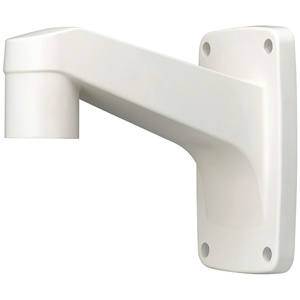 """Hanwha Techwin SBP-300WM1 is a PTZ or Dome wall mount accessory made of aluminum and available in ivory. This accessory uses a 1 1/2"""" female threads"""