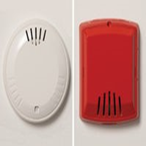 Cooper Wheelock Horn - Wired - 105 dB - Audible - Wall Mountable - Red