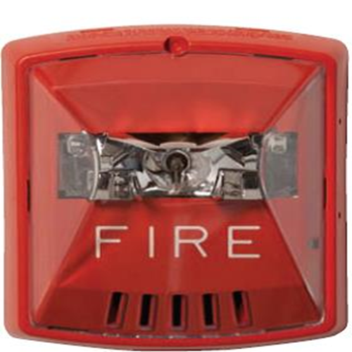 Cooper Wheelock Exceder Horn/Strobe - Wired - 105 dB - Visual, Audible - Wall Mountable - Red