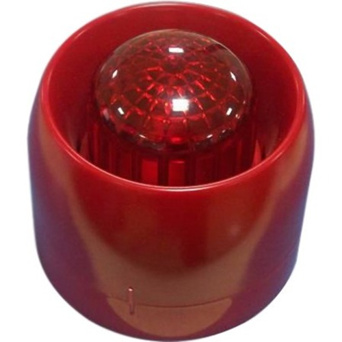 GST C9404EX Siren/Strobe - Wired - 28 V DC - 115 dB - Audible, Visual - Wall Mountable - Red