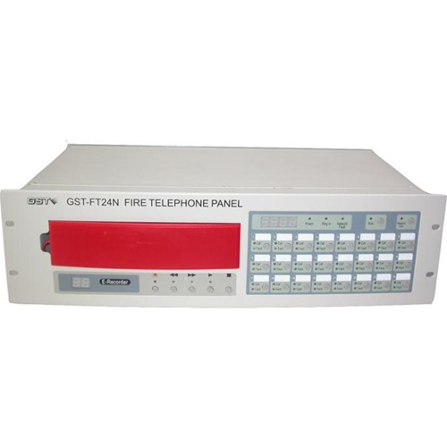 GST-FT24N 24 Zone Fire Telephone Control Panel, Rack Mounting, Networkable Up to 8 Panels, Fully Monitored, 24VDC Powered