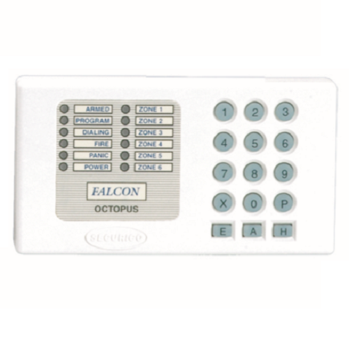 Securico SEC-R08 Security Keypad - For Control Panel - White - ABS