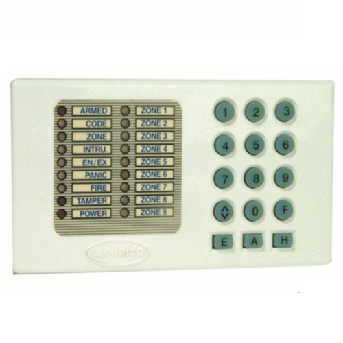 Securico SEC-R12 Security Keypad - For Control Panel - White - ABS
