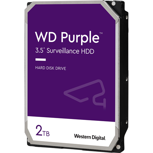 "WD Purple WD (WD20PURZ) 2TB Surveillance 3.5"" Internal Hard Drive - WD Purple Surveillance Hard Drives are engineered for 24/7 reliable operation in HD security systems with up to eight hard drives and up to 32 cameras. MASTER PACK"