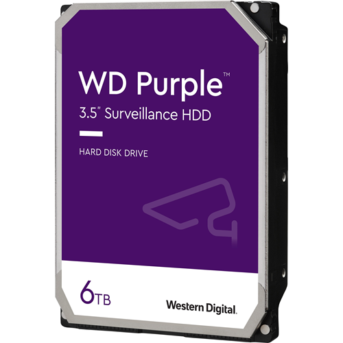 "WD Purple WD (WD60PURZ) 6TB Surveillance 3.5"" Internal Hard Drive - WD Purple Surveillance Hard Drives are engineered for 24/7 reliable operation in HD security systems with up to eight hard drives and up to 32 cameras. MASTER PACK"