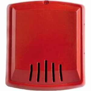 HORN RED 2W WALL 12/24V