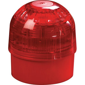 Apollo Horn/Strobe - Wireless - 100 dB - Audible, Visual - Wall Mountable - Red