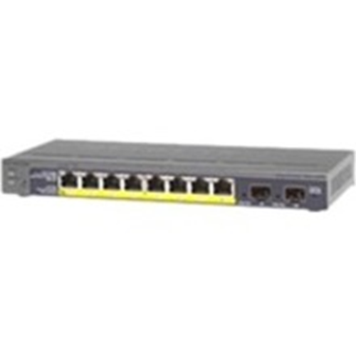 Netgear ProSafe GS110TP 8 Ports Manageable Ethernet Switch - 3 Layer Supported - Modular - Twisted Pair, Optical Fiber - Desktop, Wall Mountable - Lifetime Limited Warranty