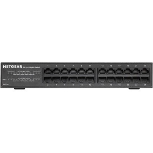 Netgear GS324 24 Ports Ethernet Switch - 24 Network - Twisted Pair - 2 Layer Supported - Rack-mountable, Wall Mountable, Desktop