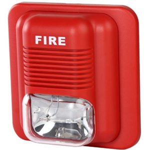 Ravel RE-25SS Siren/Strobe - Wired - 30 V DC - 100 dB - Audible, Visual - Flush Mount, Ceiling Mountable, Wall Mountable - Red