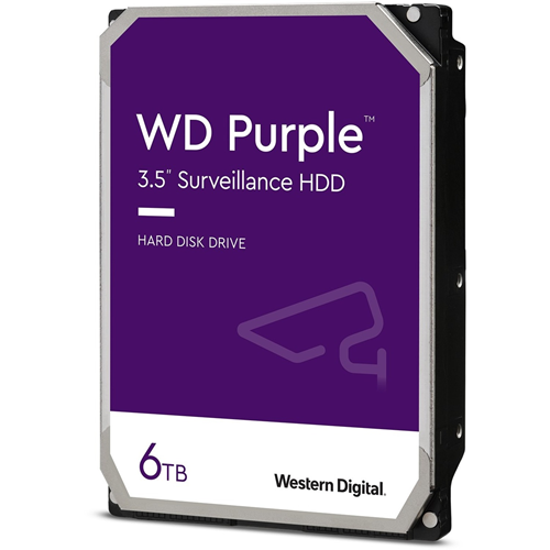 """WD Purple WD62PURZ 6 TB Solid State Drive - 3.5"""" Internal - SATA (SATA/600) - Write Intensive - Video Surveillance System Device Supported - 5640rpm"""