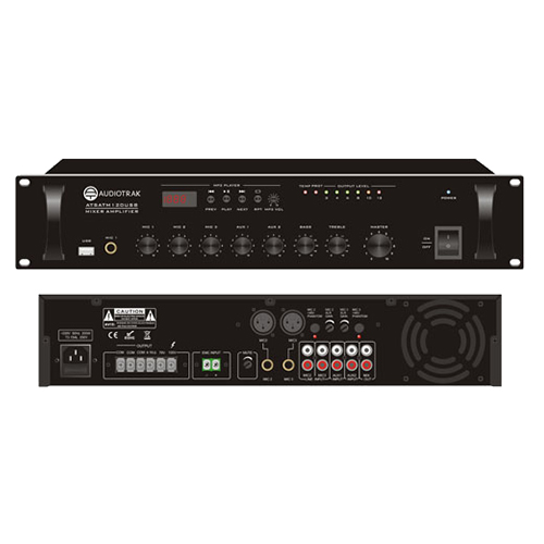 RMS120W Class D Mixer Amplifier with MP3